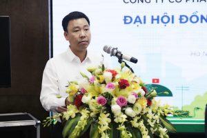 Ông Lê Vĩnh Sơn - Chủ tịch HĐQT phát biểu tại Đại hội